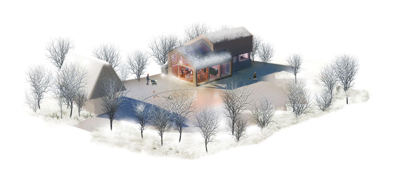 Horecapaviljoen-Vondeltuin-door-architecten-winter